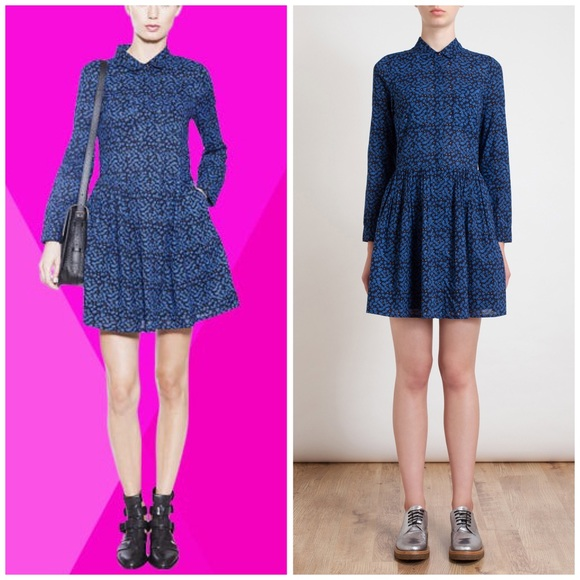 Chinti and Parker London Star Print Shirt Dress